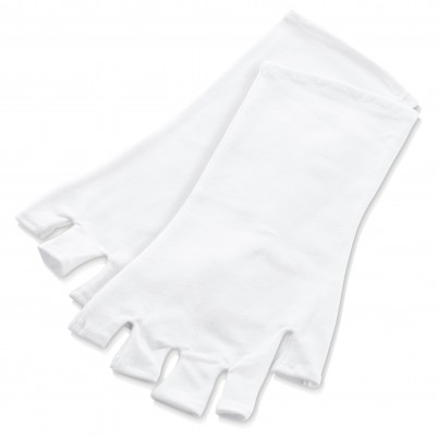 Mănuși protecție UV Xanitalia - mărime universală, albe