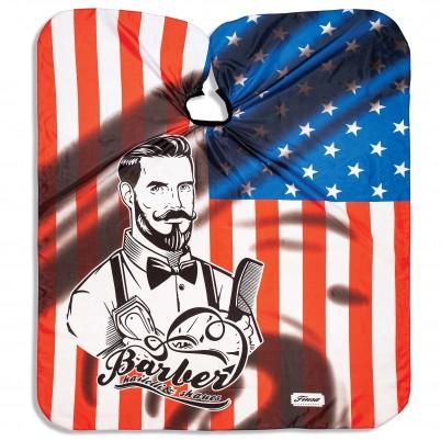 Pelerină pentru tuns Xanitalia Barber Professional - Stars & Strips