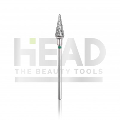 Capăt freză Tungsten carbide HEAD - con, verde, L - 14,0mm, Ø 6,0mm