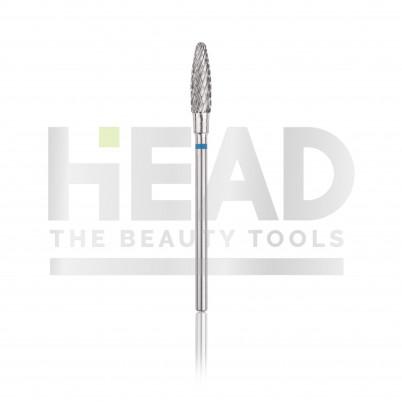 Capăt freză Tungsten carbide HEAD - con, albastru, L- 13,0mm, Ø 4,0mm