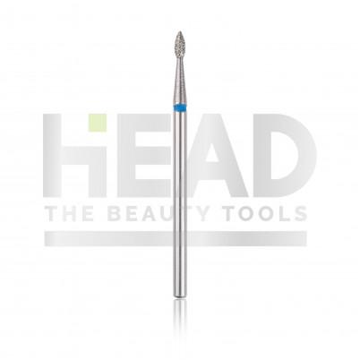 Capăt freză Diamantat HEAD - picătură, albastru, L- 4,0 mm, Ø1,8 mm