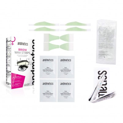 andmetics BROW Wax Strips Women