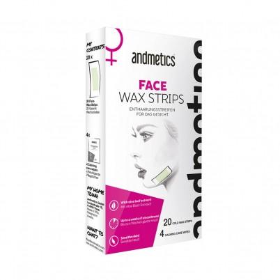 Benzi depilatoare față andmetics FACE Wax Strips