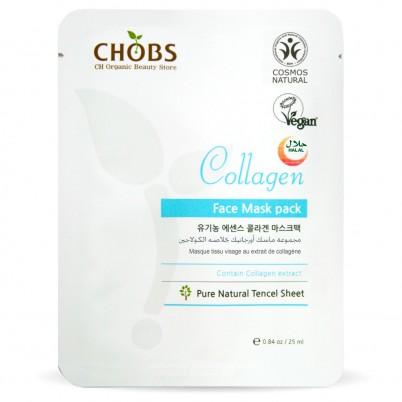 Mască Organică de față cu Colagen CHOBS
