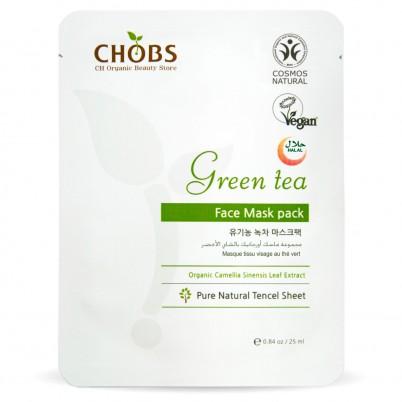 Mască Organică de față cu Ceai Verde CHOBS