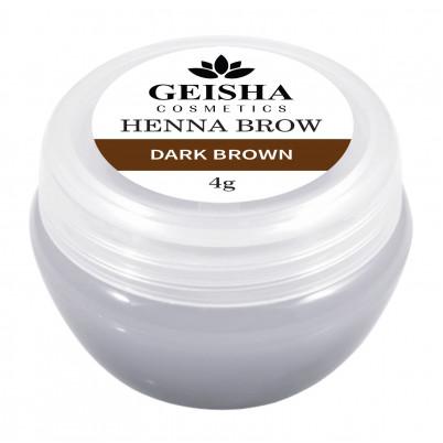 Vopsea Henna Brow Geisha Cosmetics - Dark Brown 4g