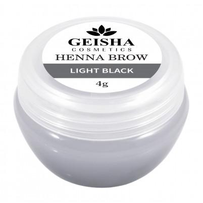 Vopsea Henna Brow Geisha Cosmetics - Light Black 4g