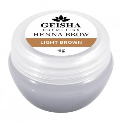 Vopsea Henna Brow Geisha Cosmetics - Light Brown 4g