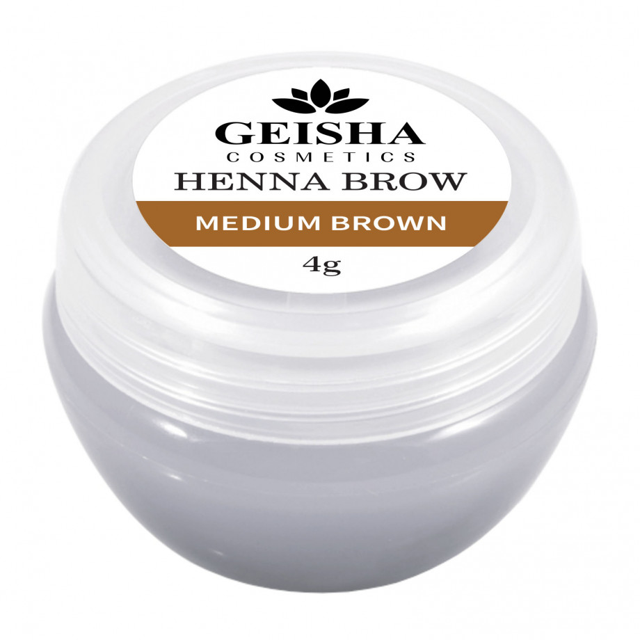 Vopsea Henna Brow Geisha Cosmetics - Medium Brown 4g