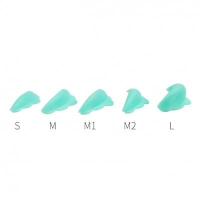 SET BENZI SILICON PENTRU ONDULARE - LAMINARE GENE 5 Perechi Albastre (SMM1M2L)