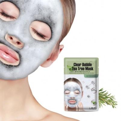 LABUTE Clear Bubble - Mască facială exfoliantă cu Arbore de Ceai 20ml