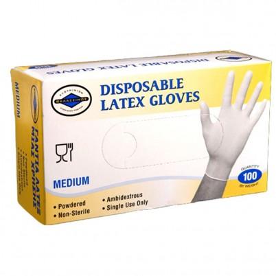 Mănuși de Latex de Unică Folosință - Medium - set 100 buc
