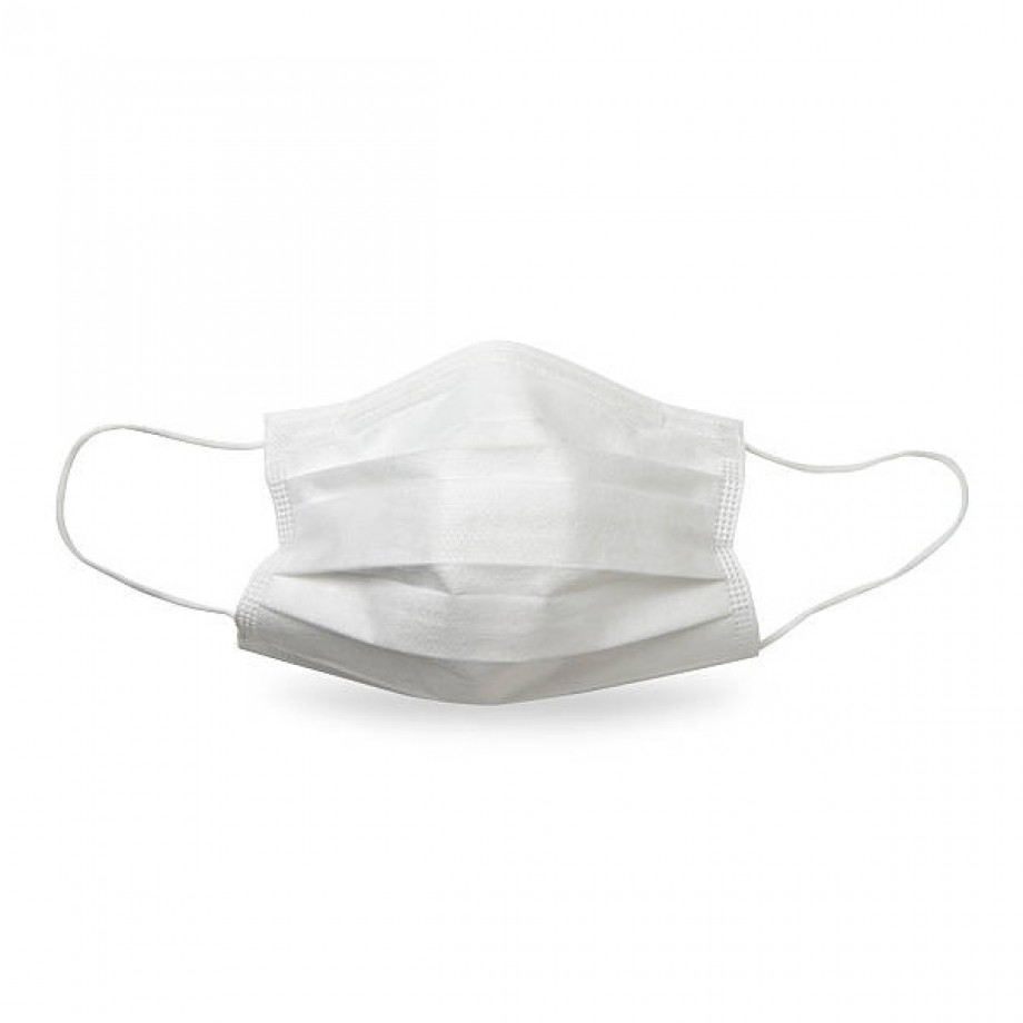 Set 20 Masti Chirurgicale de Unica Folosinta - 3 pliuri - ALBE