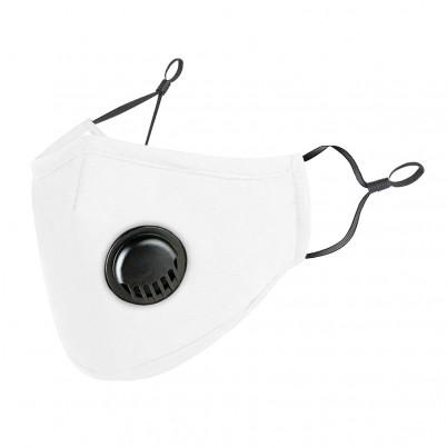 Mască de Protecție Reutilizabilă Albă cu Supapă + 2 Filtre Carbon Activat PM2.5