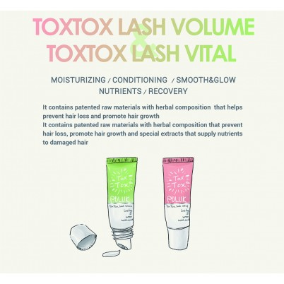 PACHET COSMETIC LASH BOTOX TREATMENT PULUK TOXTOX LASH VOLUME + LASH VITAL