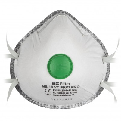 Carbon Respiratory Masks with FFP 1 Valves set 3 pieces