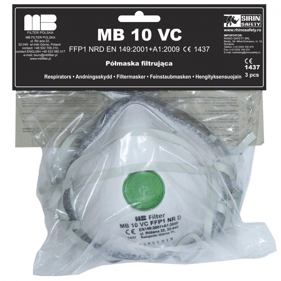 Carbon Respiratory Masks with FFP 1 Valves set 3 pieces