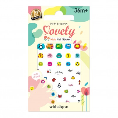 Lovely Kids Nail Sticker WithShyan No.01