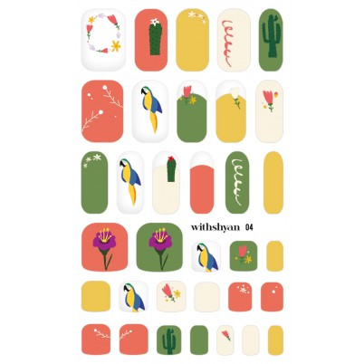 Sticker Sheet for manicure & pedicure WITHSHYAN Nail Dress No. 04