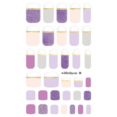 Sticker Sheet for manicure & pedicure WITHSHYAN Nail Dress No. 06