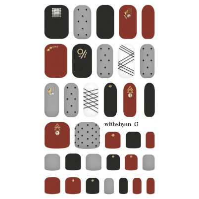 Sticker Sheet for manicure & pedicure WITHSHYAN Nail Dress No. 07