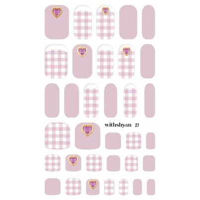 STICKERE Manichiura si Pedichiura WITHSHYAN Nail Dress No. 27