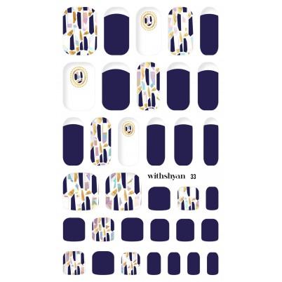 STICKERE Manichiura si Pedichiura WITHSHYAN Nail Dress No. 33