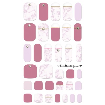 STICKERE Manichiura si Pedichiura WITHSHYAN Nail Dress (Special) No. 04