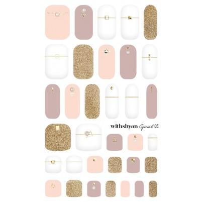 STICKERE Manichiura si Pedichiura WITHSHYAN Nail Dress (Special) No. 05