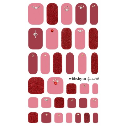 STICKERE Manichiura si Pedichiura WITHSHYAN Nail Dress (Special) No. 07