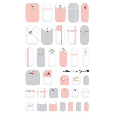 STICKERE Manichiura si Pedichiura WITHSHYAN Nail Dress (Special) No. 08