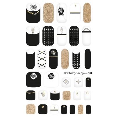 STICKERE Manichiura si Pedichiura WITHSHYAN Nail Dress (Special) No. 09