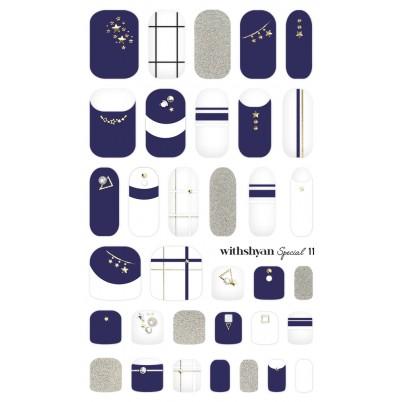 STICKERE Manichiura si Pedichiura WITHSHYAN Nail Dress (Special) No. 11