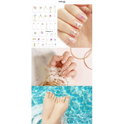 Sticker Sheet for manicure & pedicure WITHSHYAN Nail Dress No. 01