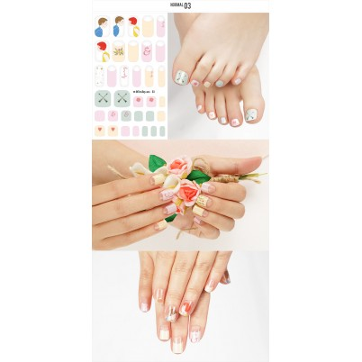 Sticker Sheet for manicure & pedicure WITHSHYAN Nail Dress No. 03