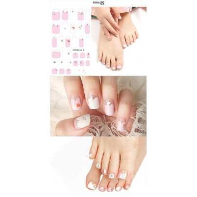 Sticker Sheet for manicure & pedicure WITHSHYAN Nail Dress No. 05