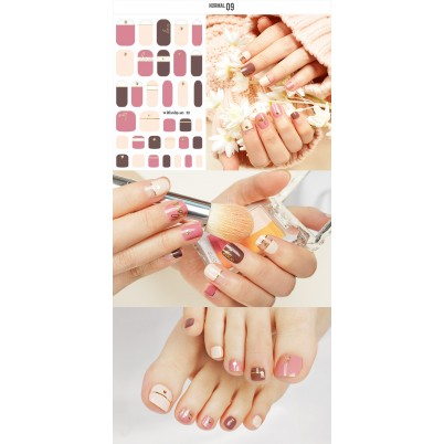 Sticker Sheet for manicure & pedicure WITHSHYAN Nail Dress No. 09