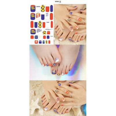 Sticker Sheet for manicure & pedicure WITHSHYAN Nail Dress No. 11