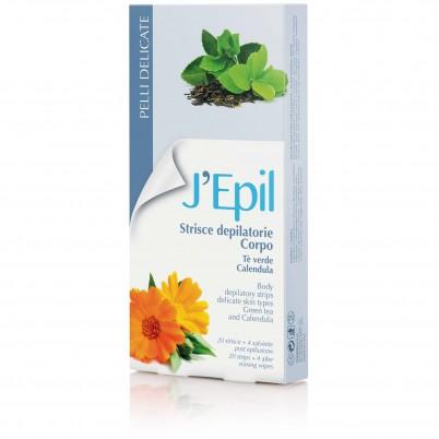 Benzi depilatoare corp J'Epil - Ceai verde și Gălbenele
