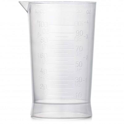 Pahar transparent din plastic gradat 100 ml Xanitalia